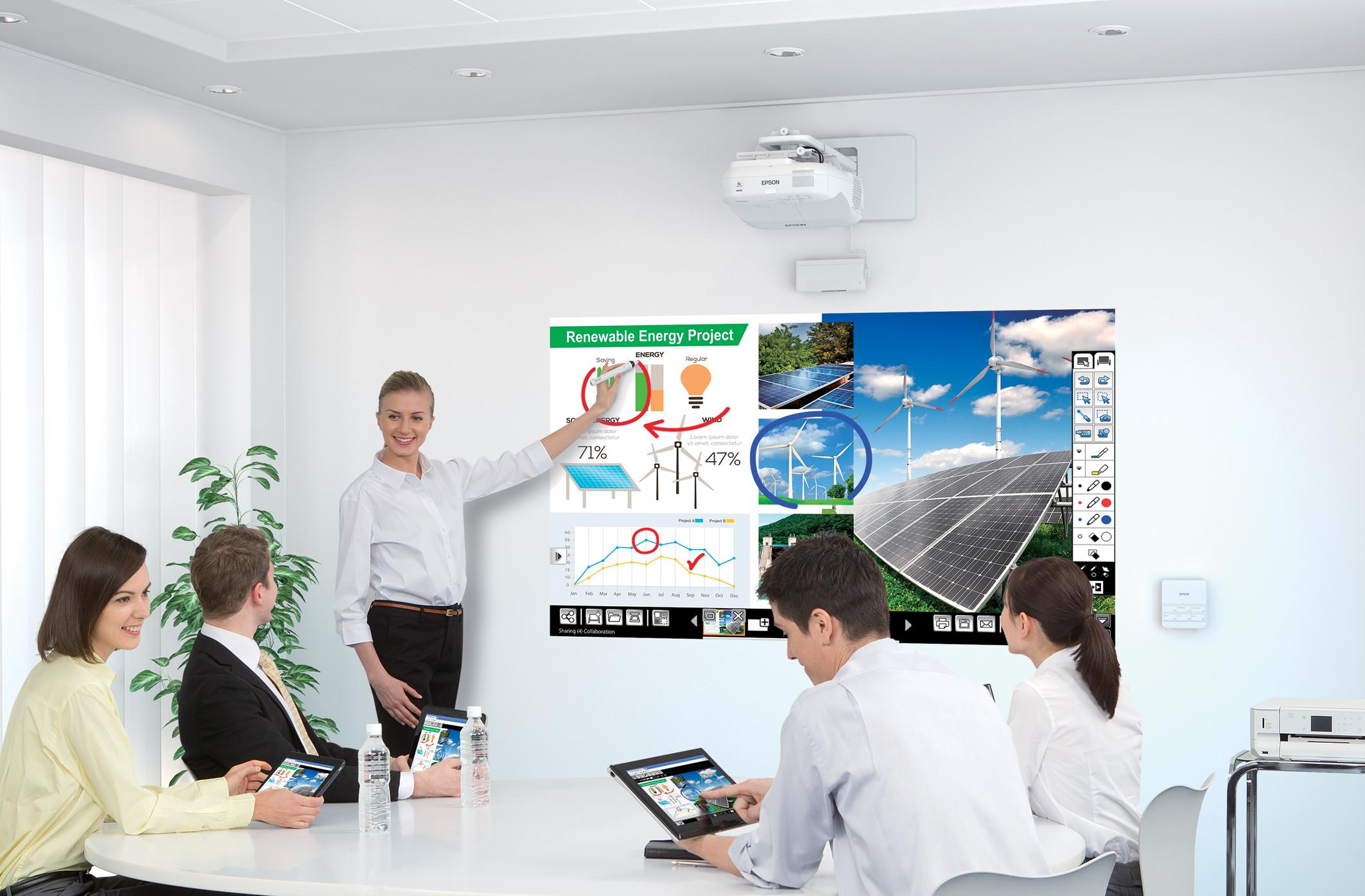 Epson Meningkatkan Keberkesanan Pembentangan Korporat Anda
