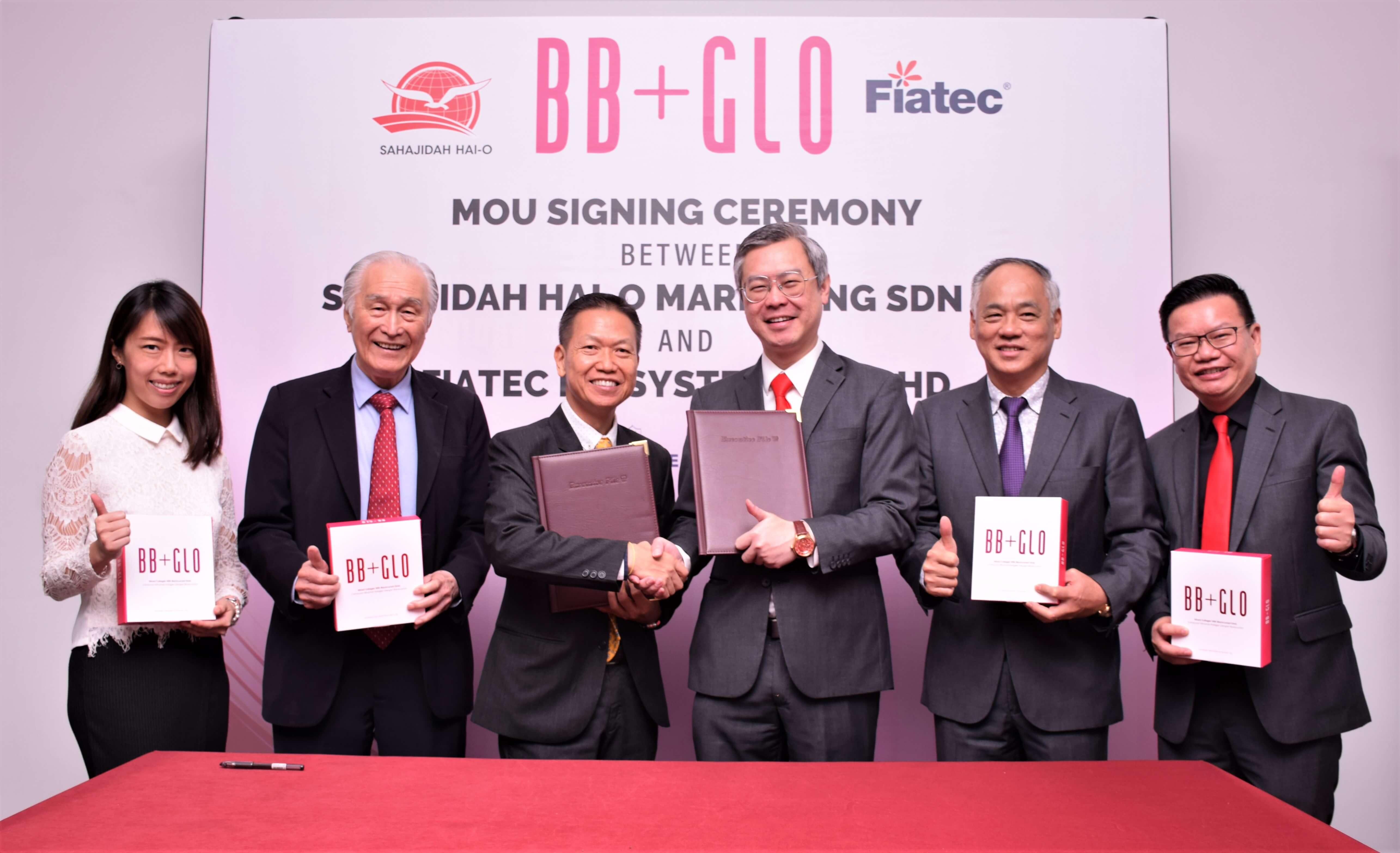 Sahajidah Hai-O Marketing memeterai perjanjian dengan pengeluar terkemuka fiatech biosystem untuk minuman kolagen BB+GLO