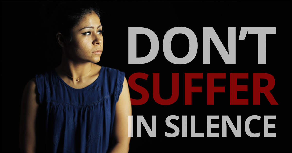 Don't suffer in silence