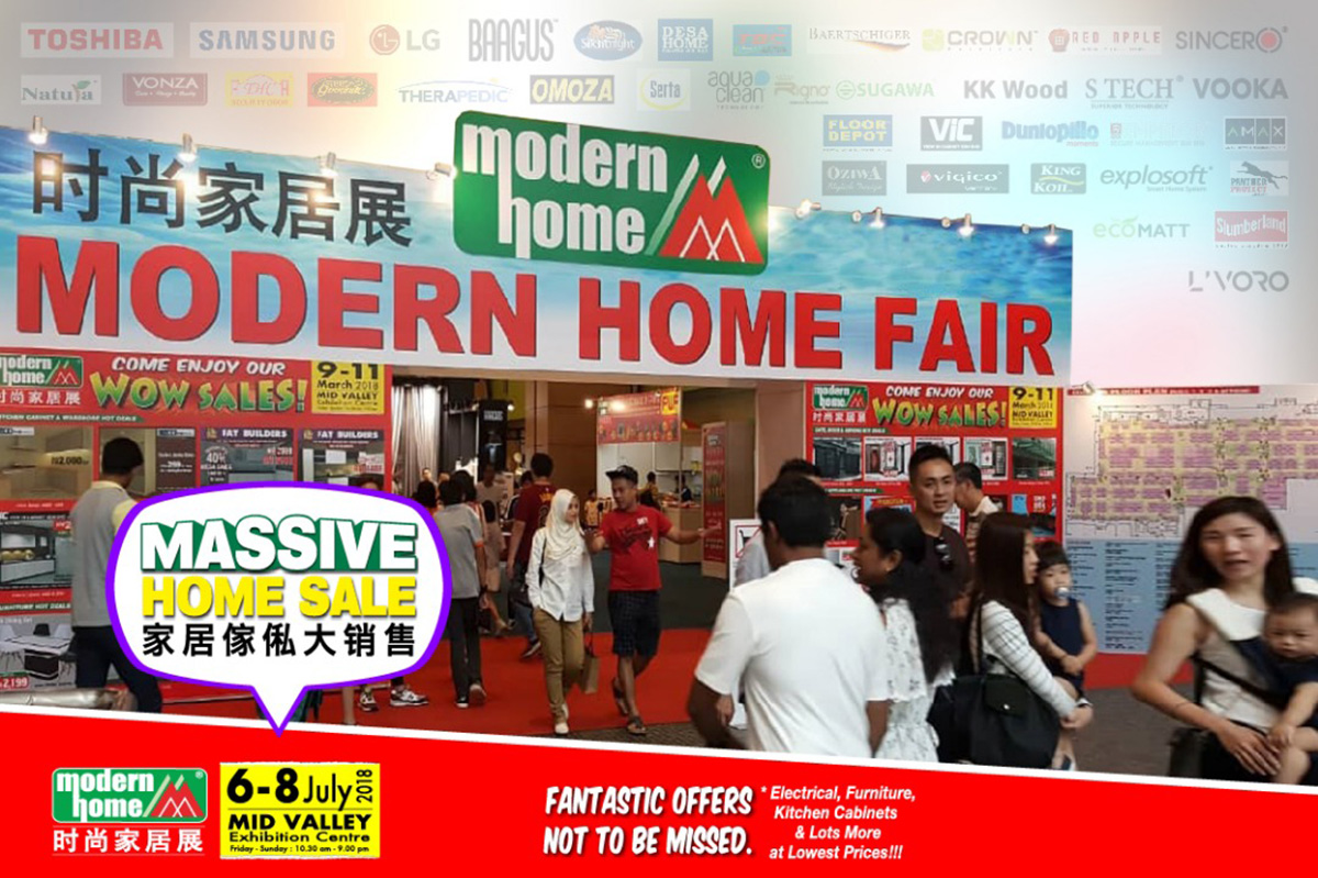 Modern Home Fair the 40th edition Will Be Held From 6 To 8 July AtThe Mid Valley Exhibition Centre.