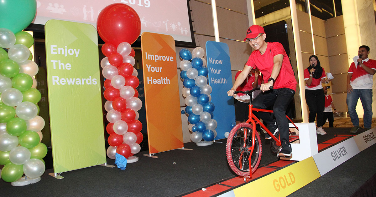 Air Selangor encourages employees to stay active, fit and healthy