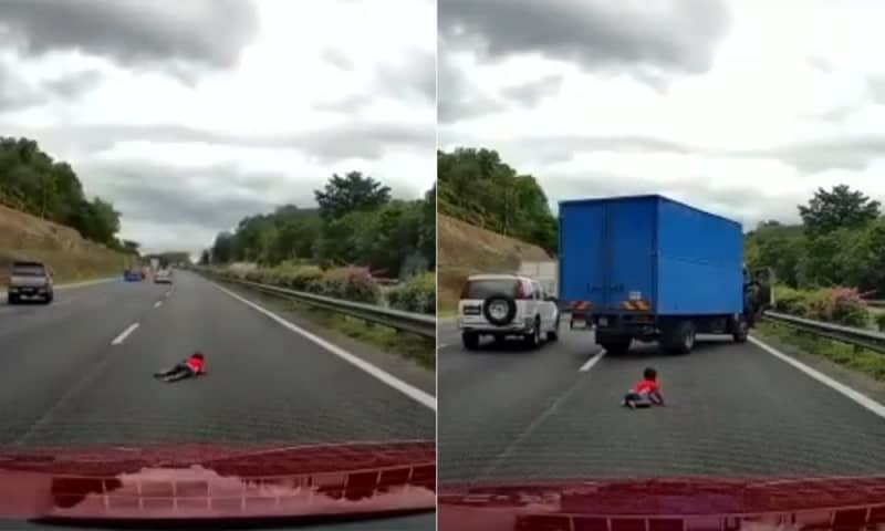 Reckless driving causes toddler to be flung out of vehicle