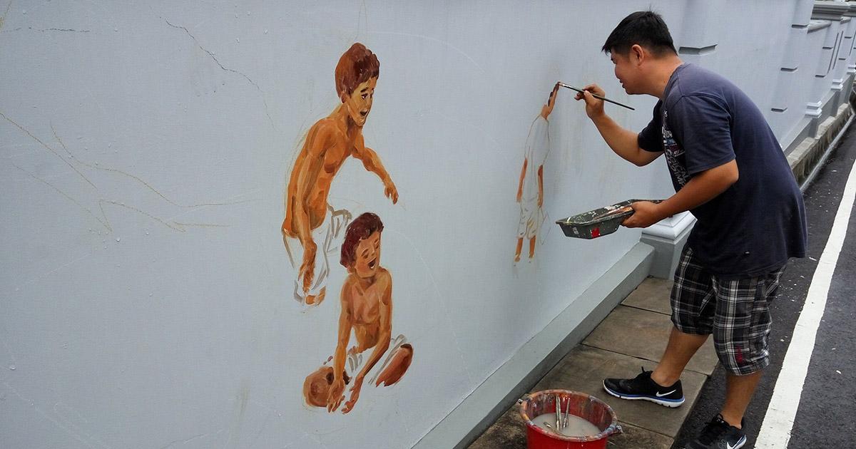 沙威的壁画故事