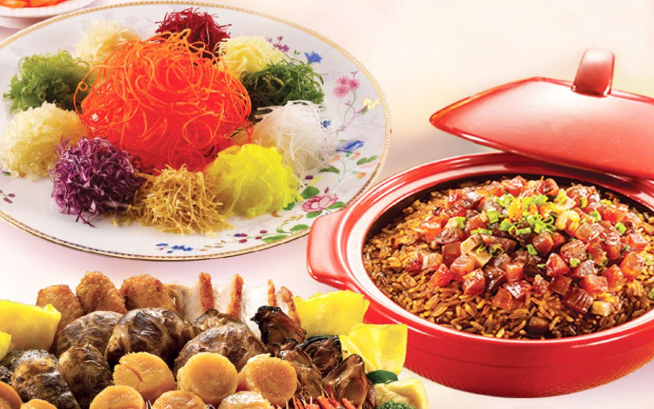 温馨迎春午宴 长辈共享盛宴笼的传人新春鲍鱼盆菜层层叠叠吃热闹